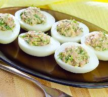 Jajka faszerowane makrelą - przepis diety Dukana, wysokobiałkowy