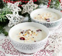 Migdałowa zupa wigilijna