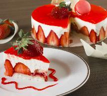 Tort truskawkowy na zimno - przepis Ewy Wachowicz