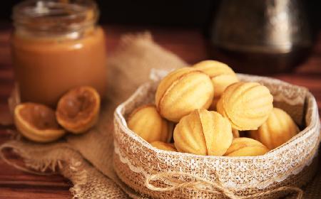 Orzeszki - przepis na ciasteczka w kształcie orzechów