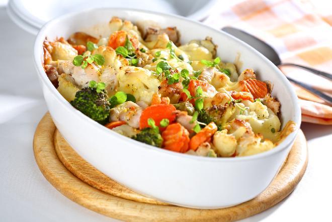 Pieczone warzywa z parmezanem z menu beszamel