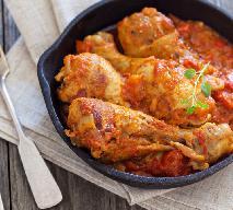 Nóżki kurczaka w sosie paprykowo-grzybowym