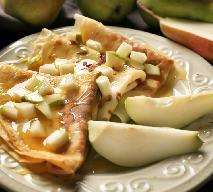 Bezglutenowe naleśniki z gruszkami w miodzie - ciepła kolacja lub śniadanie