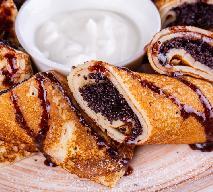 Naleśniki z masą makową i sosem czekoladowym: łatwy przepis na świąteczny deser dla 3 osób